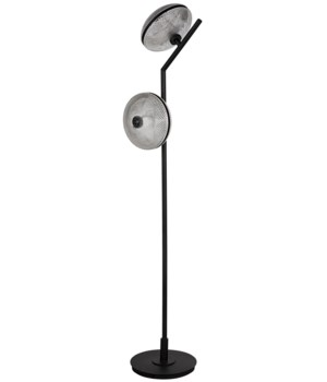 Gibson Floor Lamp, Black Metal