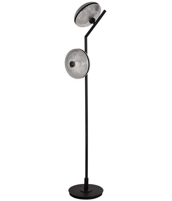 Gibson Floor Lamp, Black Steel