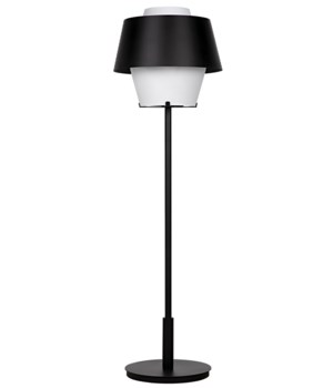 Nolan Floor Lamp, Black Metal