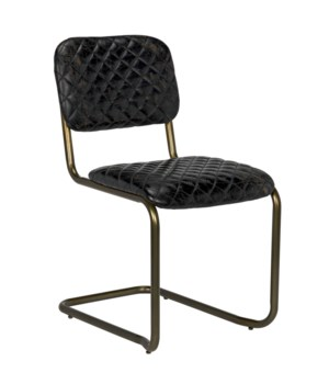 0037 Dining Chair, Metal and Leather