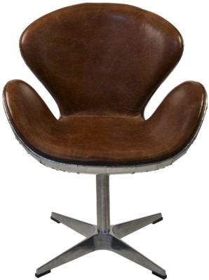 Leather Chair, Half Aluminum