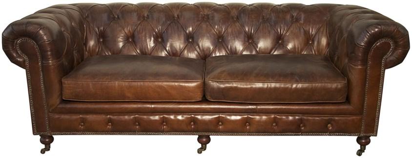 3-Seater Tufted Sofa, V. Leather