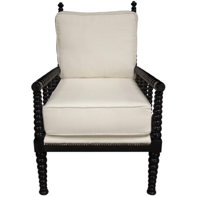 Abacus Relax Chair, Distressed Black