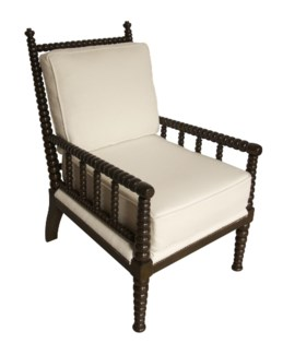 QS Abacus Relax Chair, Distressed Brown