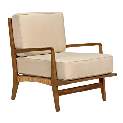 Allister Chair, Teak and Rattan