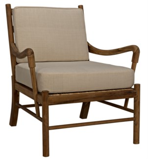 Kevin Chair with Rattan, Teak
