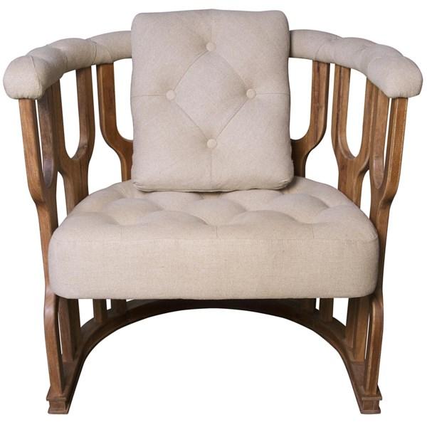 Octopus Club Chair, Dark Walnut