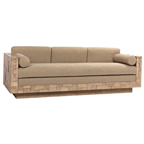 Brutalist Sofa, Washed Walnut