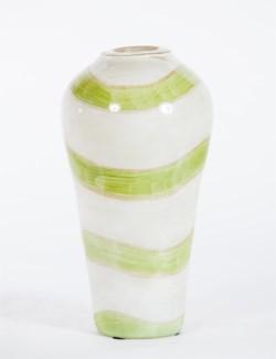 Small Urn in Celadon Swirl
