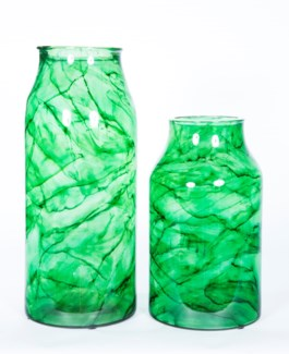 Large Bottle in Aquatic Emerald