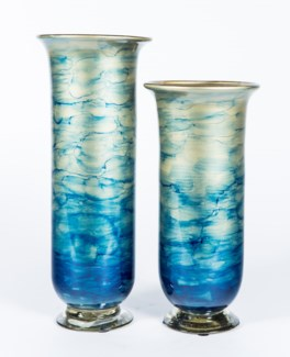 Large Urn in Sapphire Seas Finish