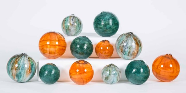 Set of 12 Spheres in Sweet Tea, Bella Vista and Spice Garden Finish