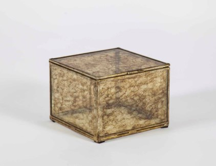 Small Square Box in Glimmer Finish