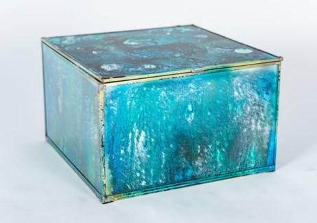 Large Square Box in Rain Dance Finish