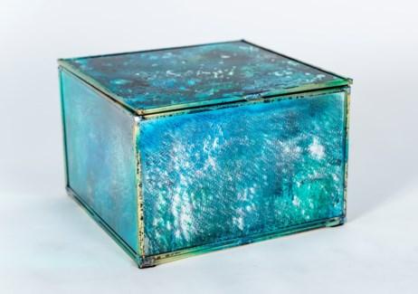 Medium Square Box in Rain Dance Finish