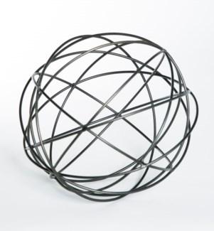 Metal Strand Sphere in Bronze