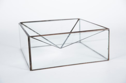 Inverted Pyramid in Clear Glass