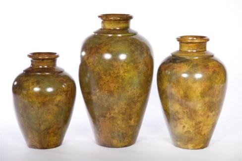 Large Vase in Olive Tree Finish
