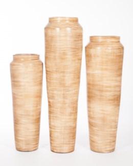 Large Floor Vase in Rice Grain Finish