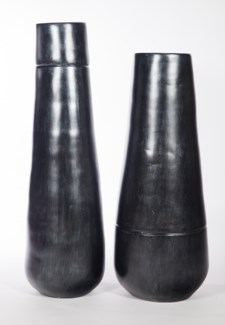 Medium Floor Vase in Caldron Finish