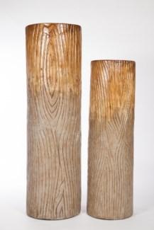 Large Floor Bottle in Woodlawn Finish