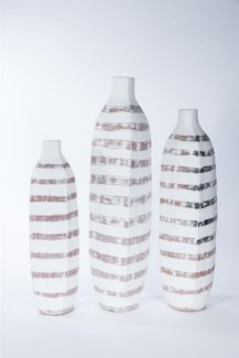 Large Textured Floor Bottle in Bleached Shadow Finish