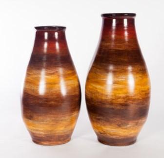Large Vase in Sunlit Tango Finish