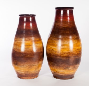 Large Vase in Sunlit Tango Finish