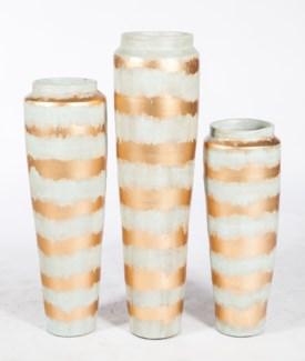 Large Floor Vase in Icelandic Gold