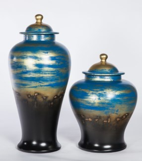 Large Ginger Jar in Pacific Abyss