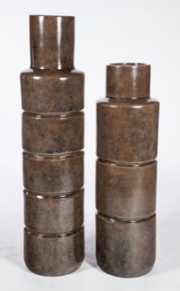 Large Floor Cylinder in Chipotle Paste