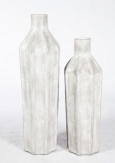 Large Floor Bottle in Grey Streak