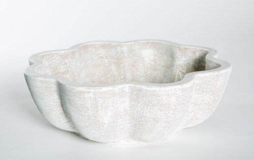 Terracotta Bowl in Vintage Blanco