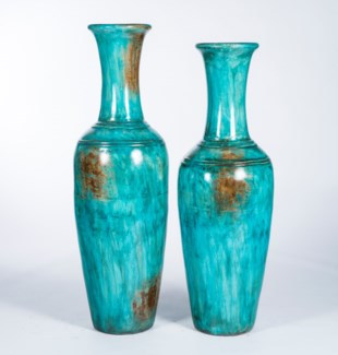 Large Floor Vase in Seychelles Finish