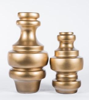 Large Turned Vase in Golden Aura Finish