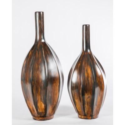 Medium Long Neck Bottle In Wilderness Finish Vases Prima Design