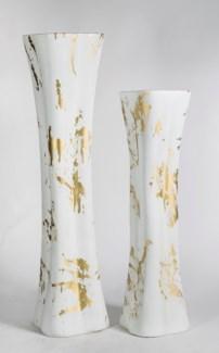 Large Floor Vase in Golden Nectar Finish