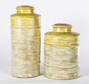 Large Tea Canister in Bermuda Sands Finish
