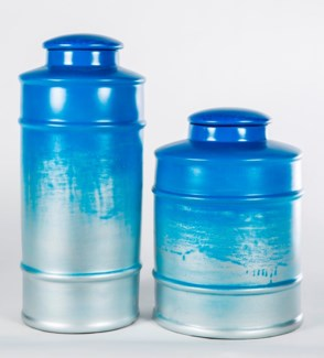 Large Tea Canister in Sea Spray Finish