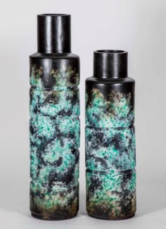 Large Floor Cylinder in Mountain Mist Finish