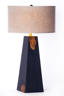 """""""Christopher Table Lamp Lamp Post Finish with 18"""""""" Drum Shade Grey/White"""""""