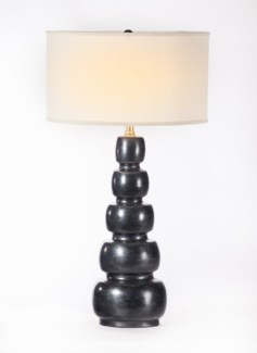 """""""Juliet Table Lamp in Caldron w/ White/White 18"""""""" Drum Shade"""""""