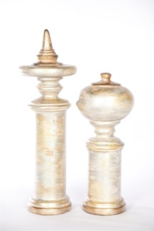 Small Finial in Burnished Birch Finish