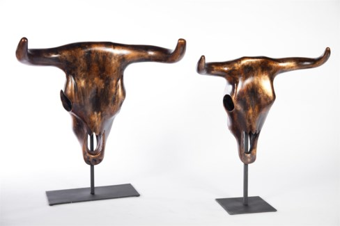 Large Longhorn Sculpture in Copperhead Finish