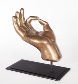 Hand Sculpture w/stand in Mesa Gilt