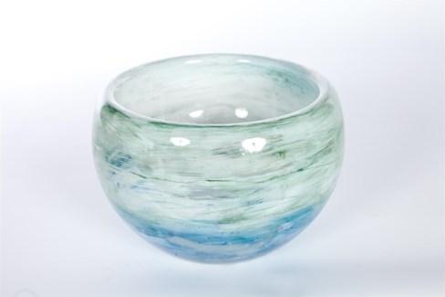 Bowl in Ocean Finish