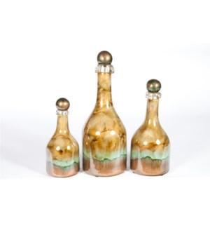 Bottle Set of 3 in Canyon Rock Finish