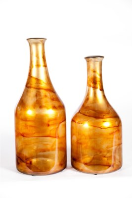 Large Milk Bottle in Harvest Flame Finish