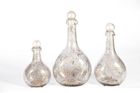 Bottle Set of 3 in Driftstone Finish