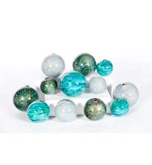 Set of 12 Spheres in Tropical Tides, Driftstone, Stone Path